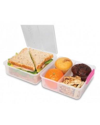 紐西蘭sistema 外帶雙層保鮮盒1.4L-粉