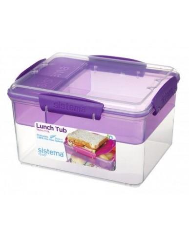 紐西蘭sistema 外帶雙層保鮮盒2.3L-紫