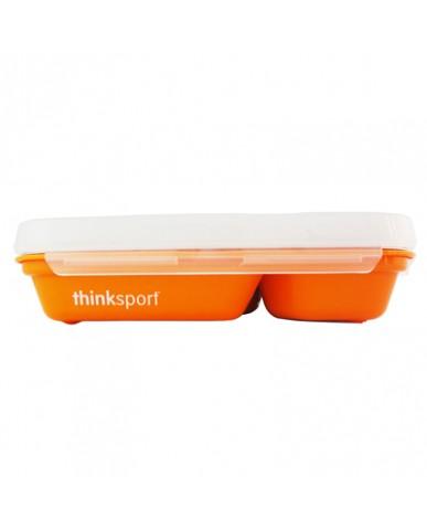美國thinkbaby不鏽鋼餐盤組-甜橙橘